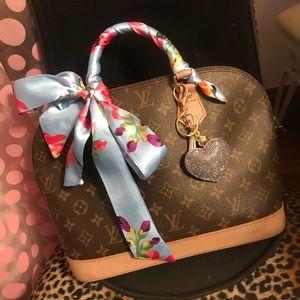 Blue floral purse Scarf Twillys
